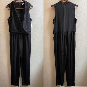 Bar III black draped jumpsuit